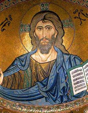 Christ Mosaic Cefalu Sicily 12th Century